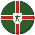 Nottinghamshire County Flag 58mm Button Badge